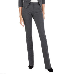 Express Mid Rise Straight Leg Columnist Gray Pants